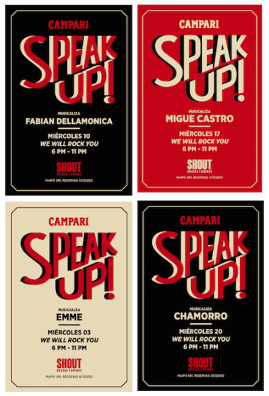 PROGRAMACION E IDENTIDAD SPEAK UP, CICLO CAMPARI