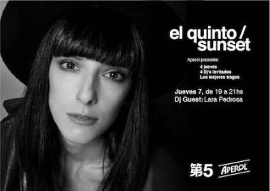 PROGRAMACION DE DJS, SUNSETS EL QUINTO
